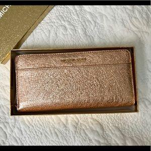 Brand New W Tags Michael Kors Metallic pink Wallet